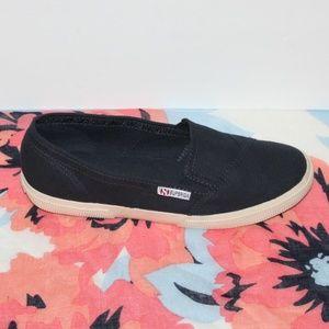 Superga navy Women size 9.5 Slip on Sneakers
